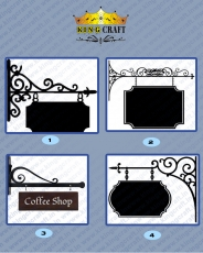 Wall Bracket Name Board | Grills and StaireCase India - www.kingcraft.in